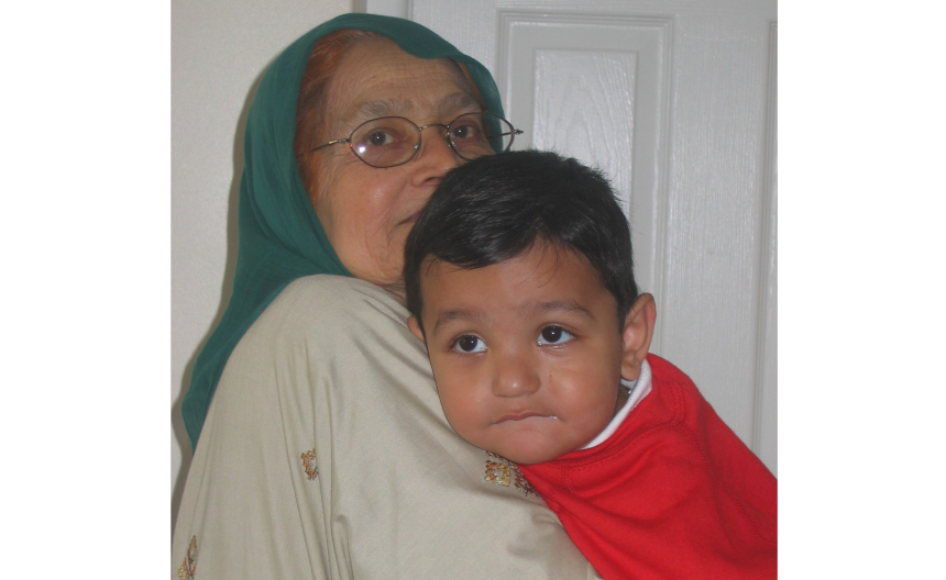 A'yaan and his grandmother