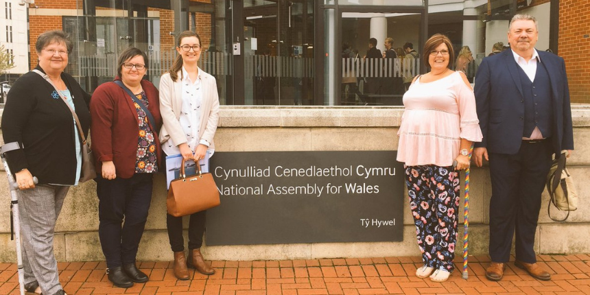 Picture outside the National Assembly for Wales