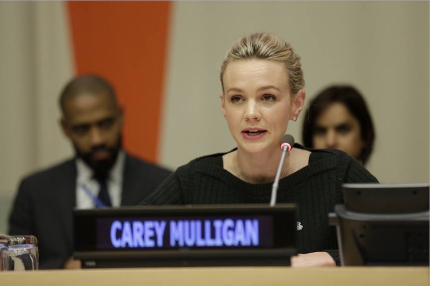 Carrey Mulligan addressing the UN