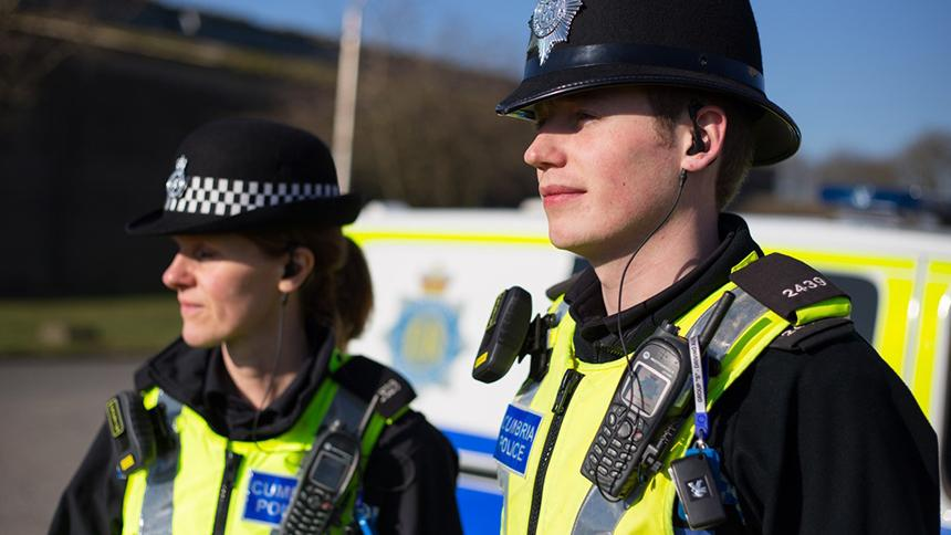 Two police officers in Cumbria
