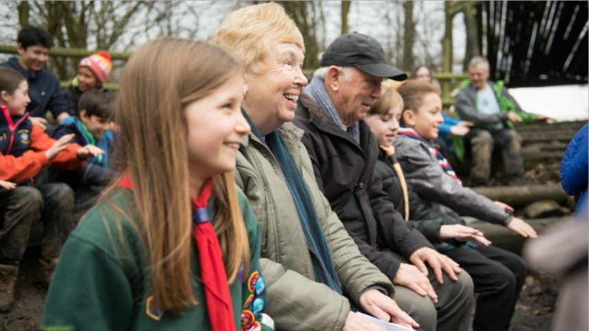 Scouts with people with dementia