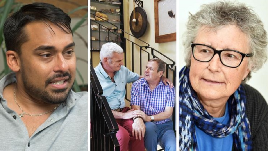 Three LGBT+ people living with dementia