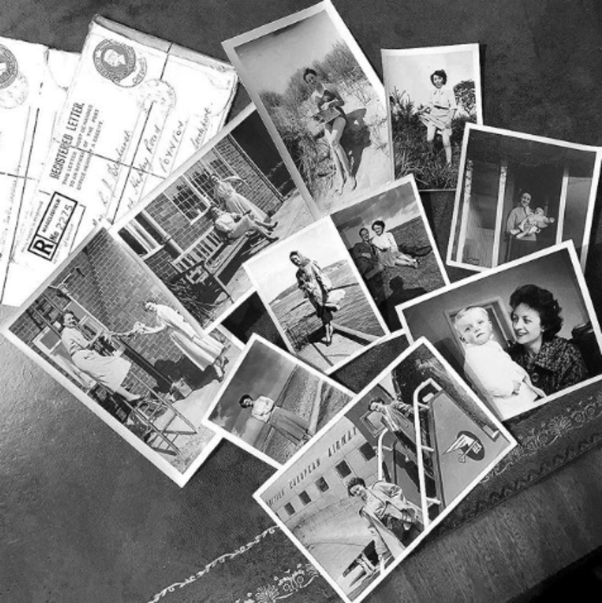 Collection of black and white photographs