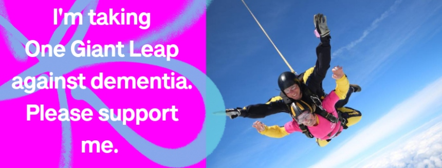 Facebook cover picture for One Giant Leap skydive