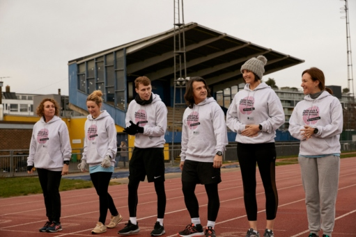 'Barbara's Revolutionaries' on the running track