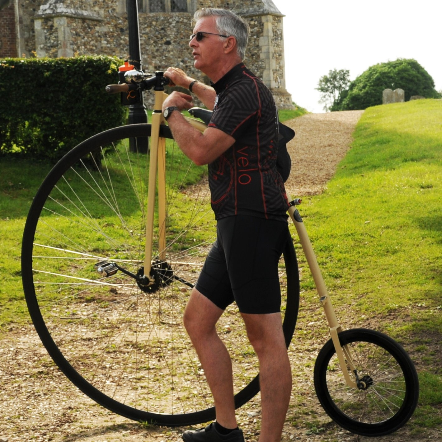 Peter and his penny farthing bike