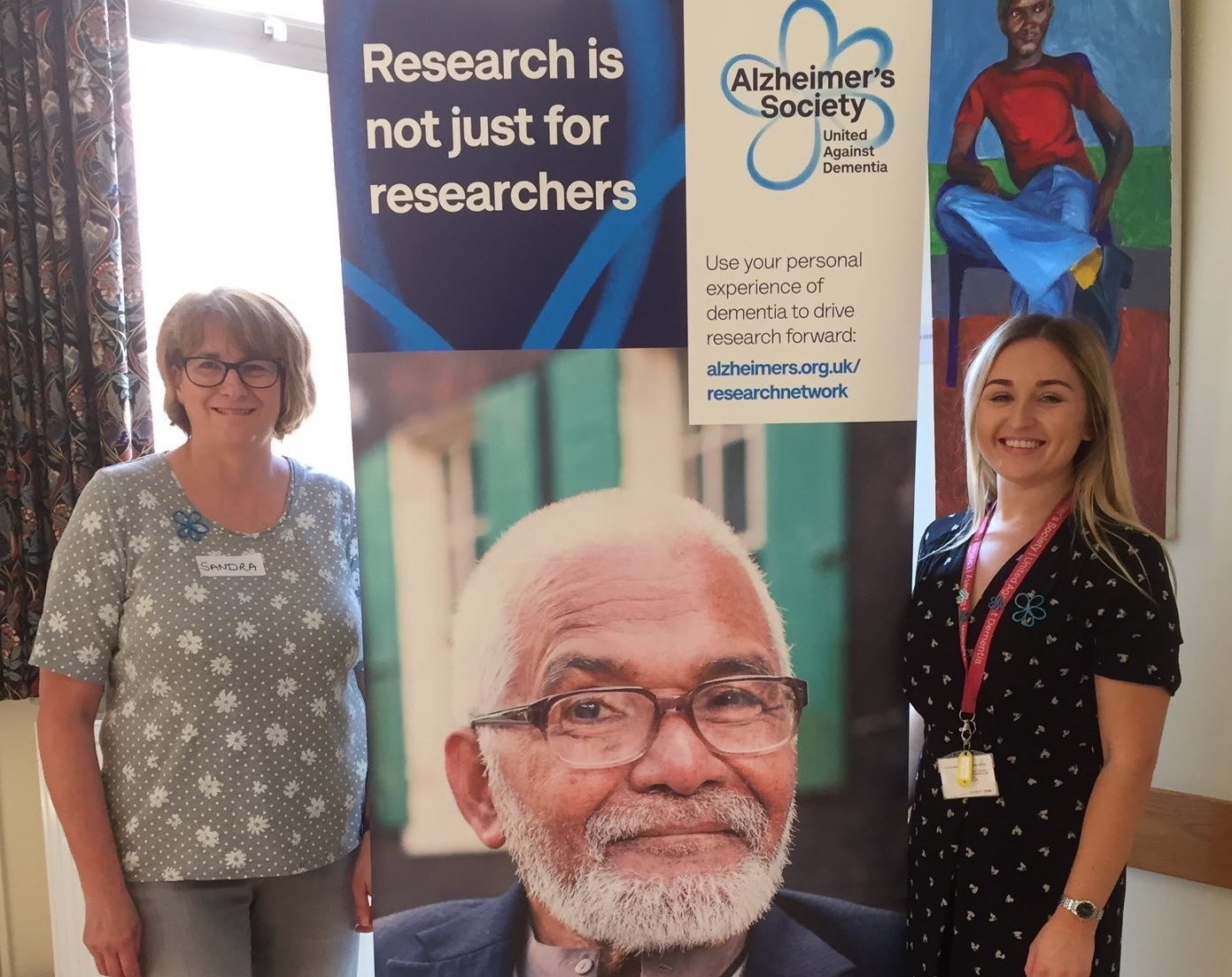 Research Network volunteers at event