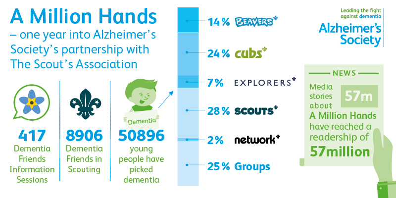 Scouts A Million Hands infographic