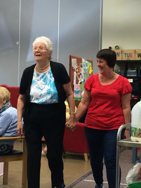 More fun at the dementia service in Wales