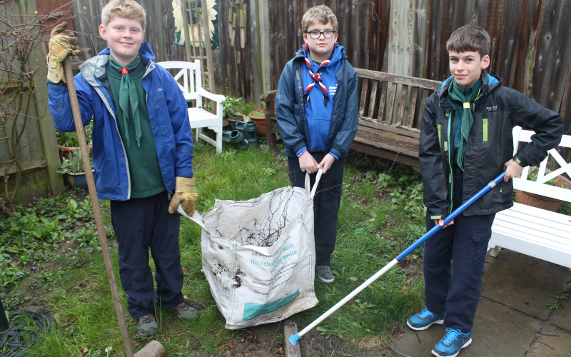 Scouts helping their communities