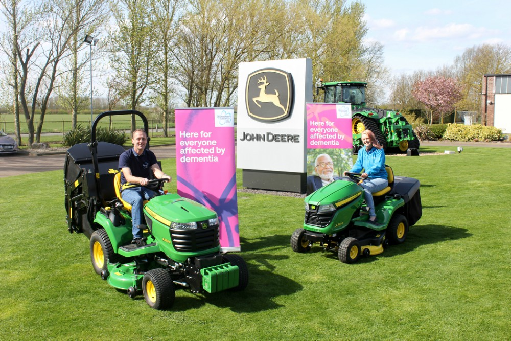 Creative fundraising ideas - riding a lawnmower