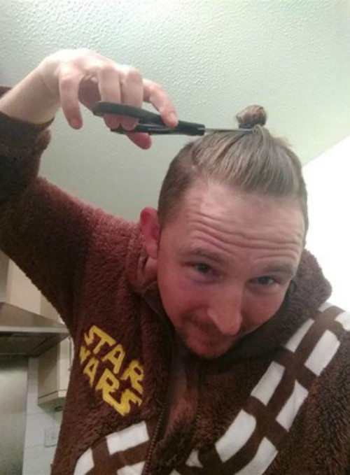 Creative fundraising ideas - top knot chop