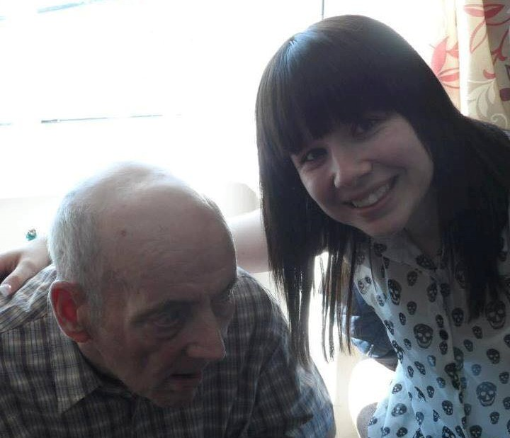 Kim and her Granda, who has dementia with Lewy bodies