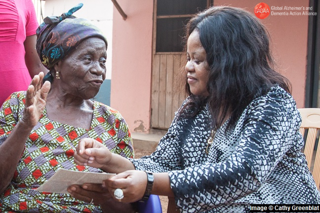 Women and dementia: Esther with her mother in Ghana