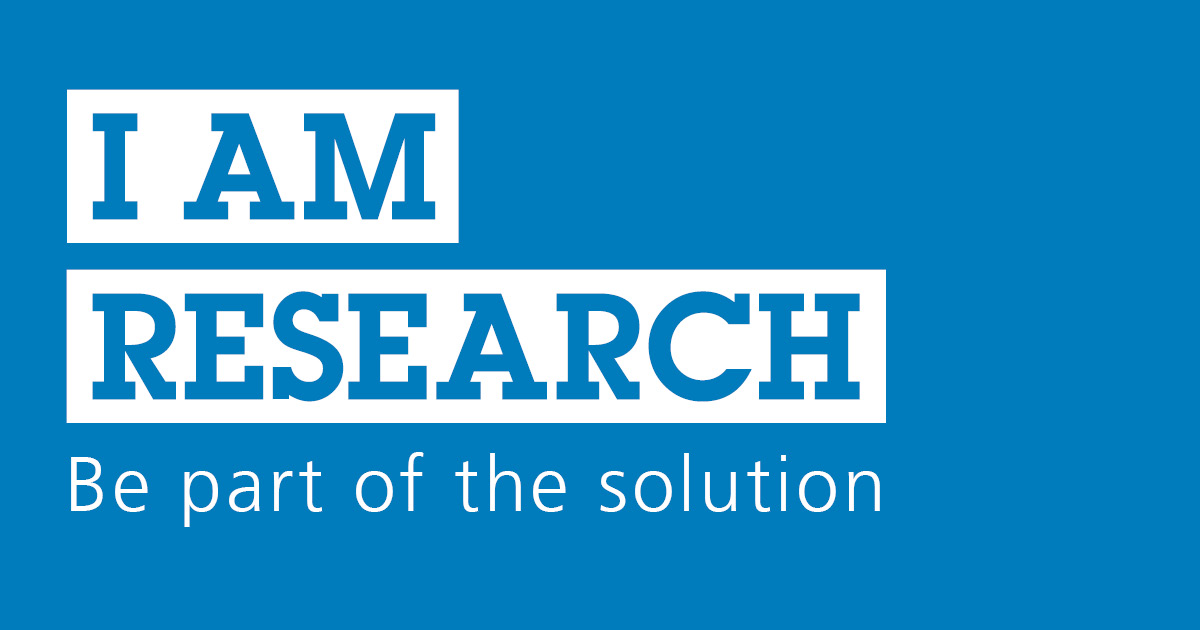 '#IAmResearch: Be Part of the solution' logo