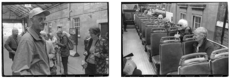 Two photos taken from the chapbook from a day out to Scarborough
