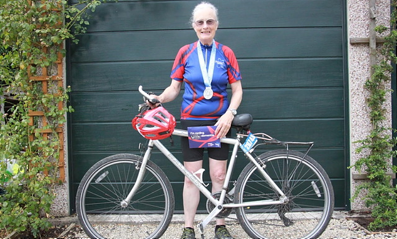 Dorothy-Anne pictured with her bike