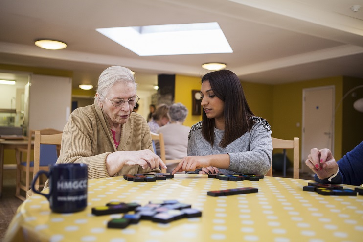 Support worker in a care home