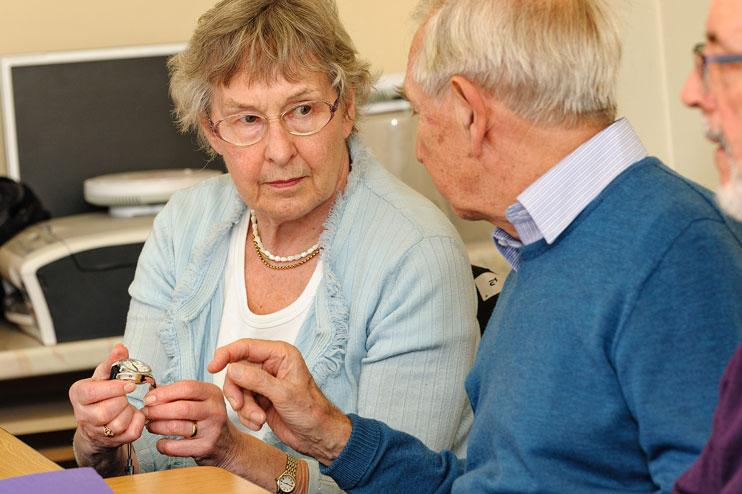 Mid Sussex Dementia Forum test out clocks and watches