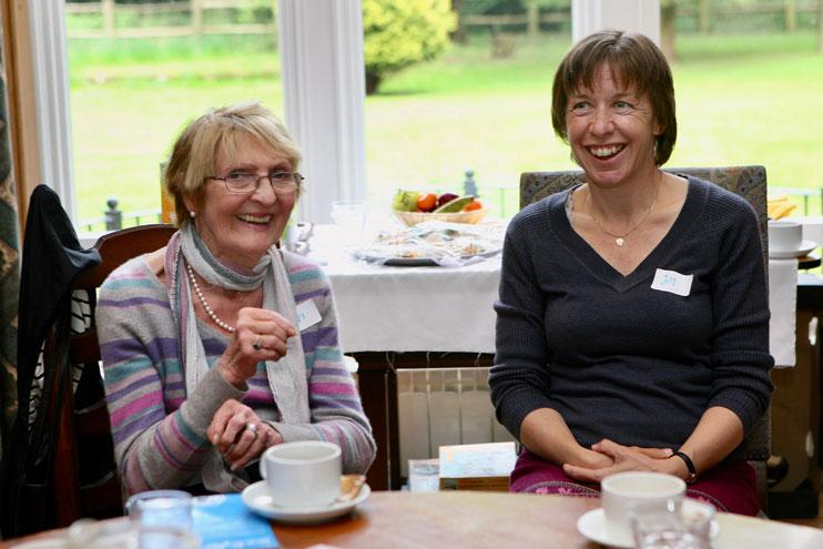 Carol and Gill at Dementia Positive Living Group.