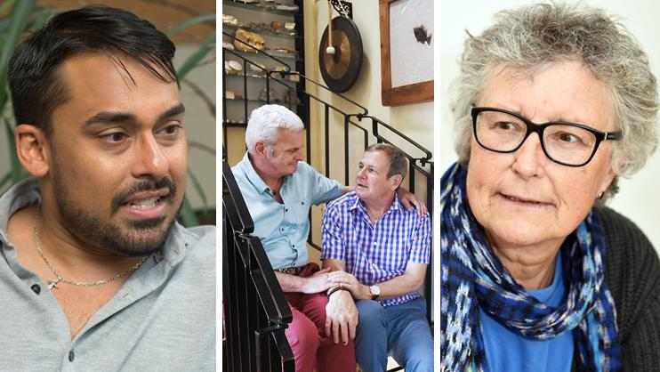 Various LGBT people affected by dementia,