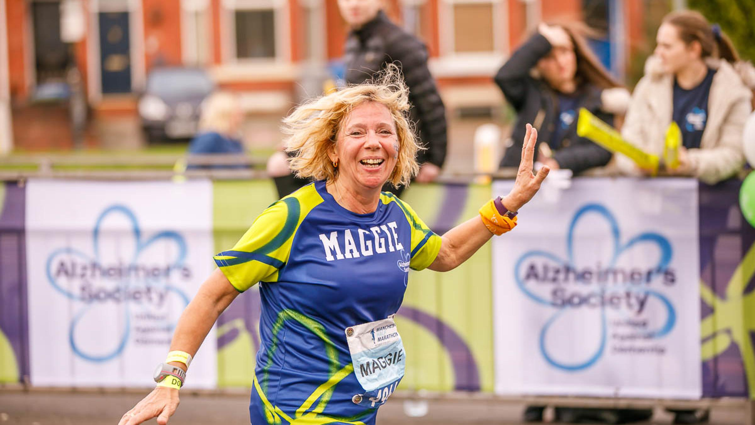 Lady running in a race