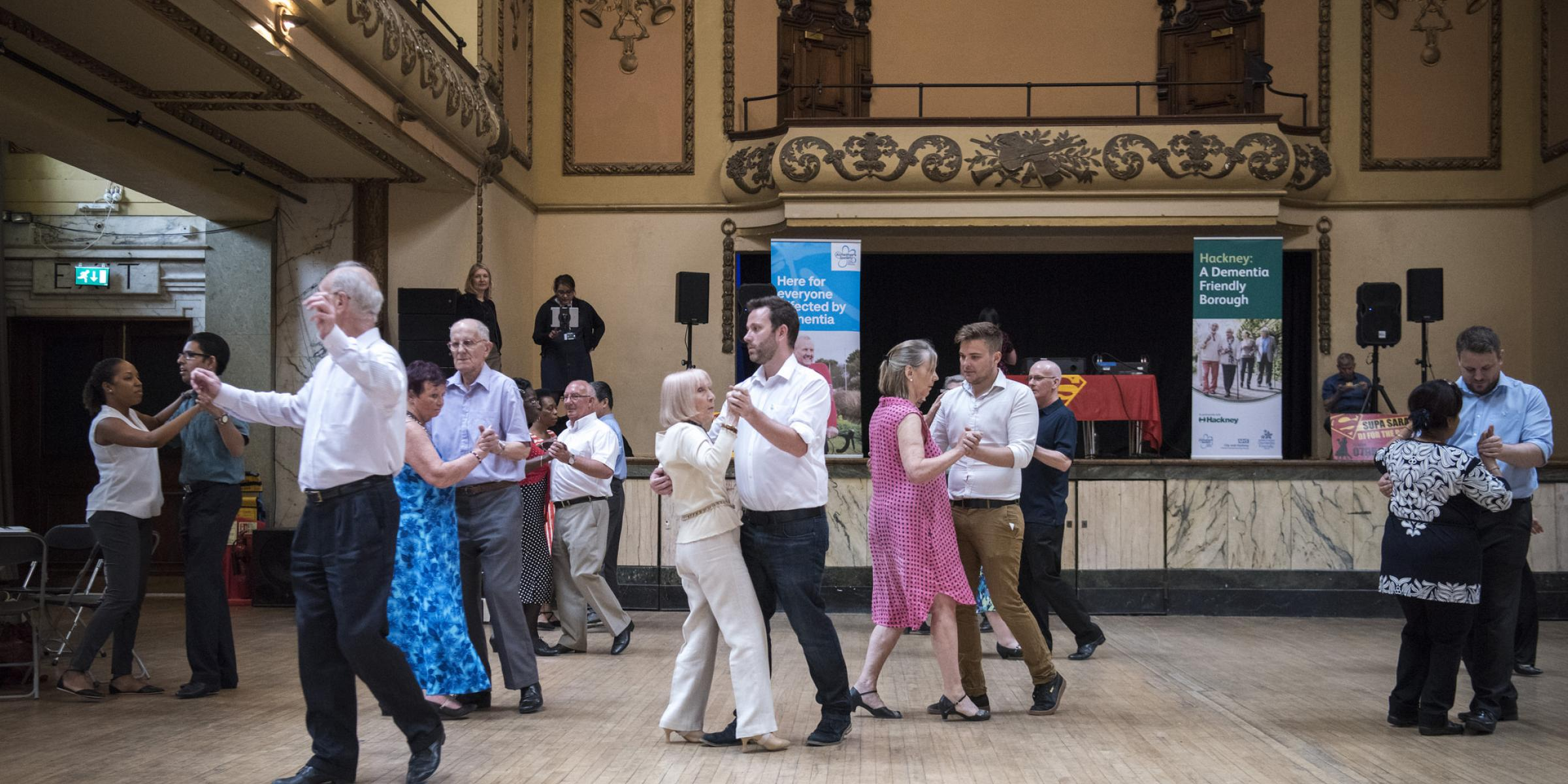 Hackney Dementia Festival tea dance at Shoreditch Town Hall