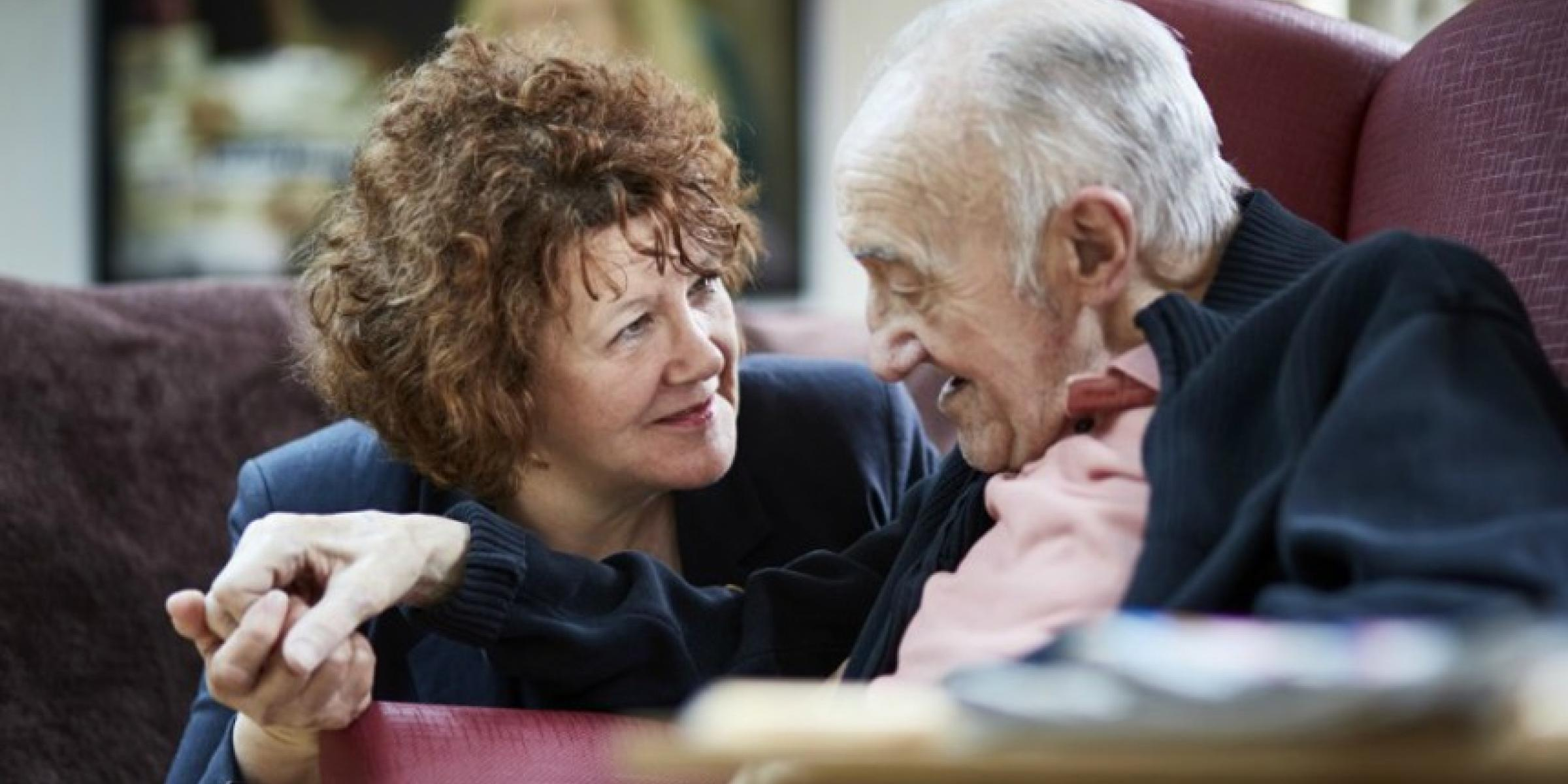 A person with dementia and their carer