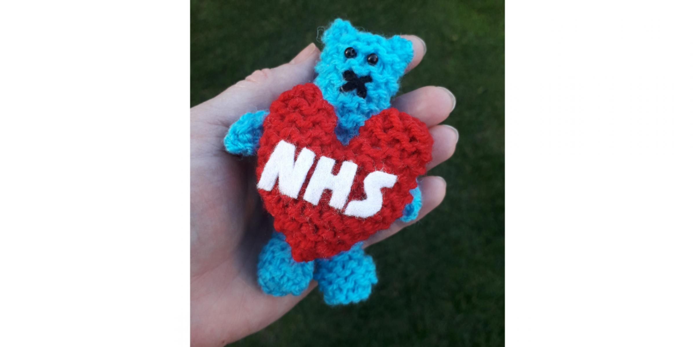 NHS Snuggle Bear Fidget Toy Hero