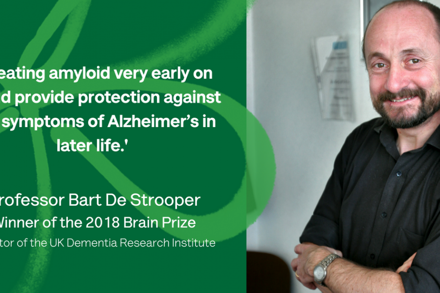 Bart De Strooper winner of the Brain Prize