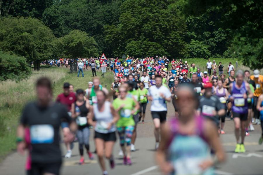 Runners in Richmond Park