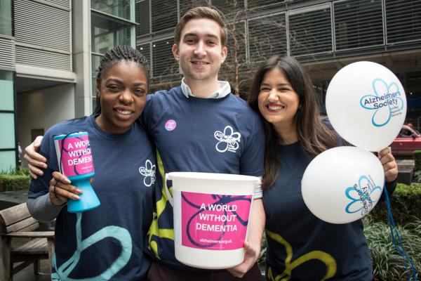 Three fundraisers raising money for Alzheimer's Society
