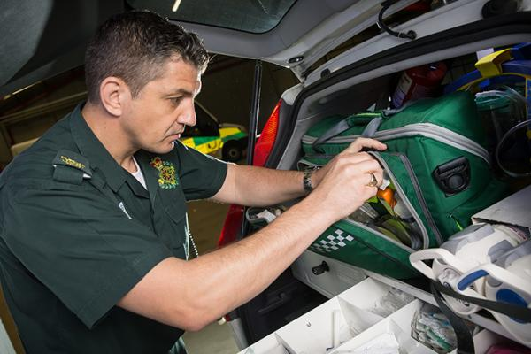 A member of the Welsh Ambulance Service