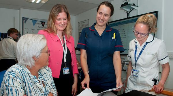 Staff on Southampton General Hospital's specialist dementia ward