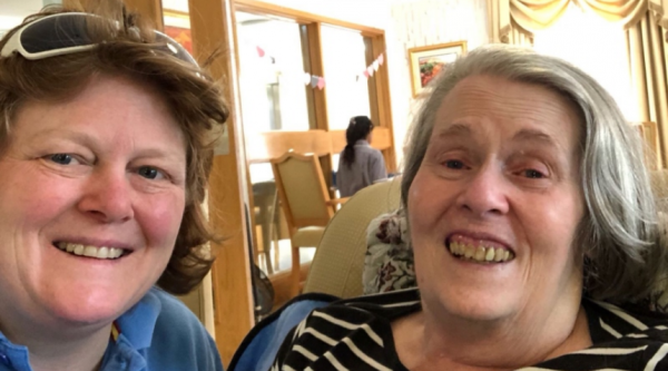 Kate and her mum, who is living with Alzheimer's