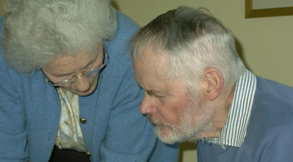 Meg and Keith, her husband who had dementia with Lewy bodies.