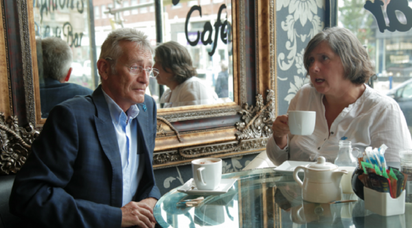 Peter Lyttle in a dementia cafe