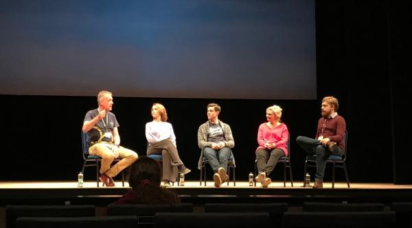Q and A session in Plymouth after the performance of Still Alice