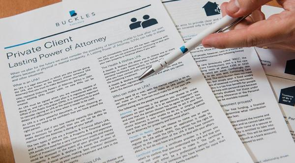 Going through a lasting power of attorney