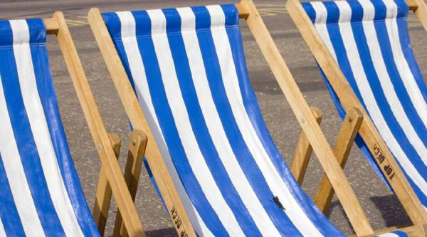 Deck chairs at the seaside