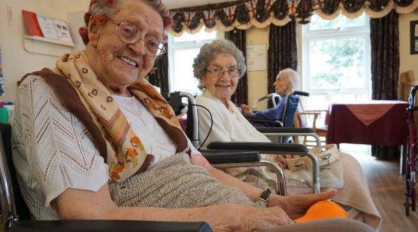 Residents in a care home