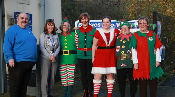 Elf Day supporters in Ebbw Vale