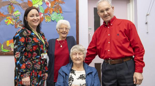 People with dementia at a Salvation Army lunch club in Rotherham