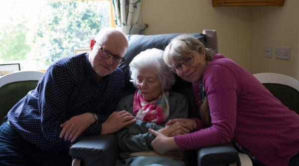 Philip with Sylvia and his sister