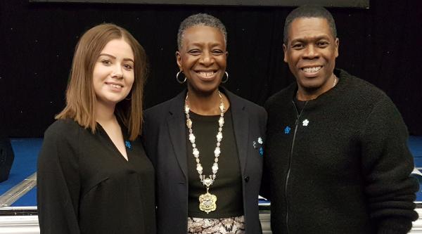 Barbara with Alzheimer's Society staff