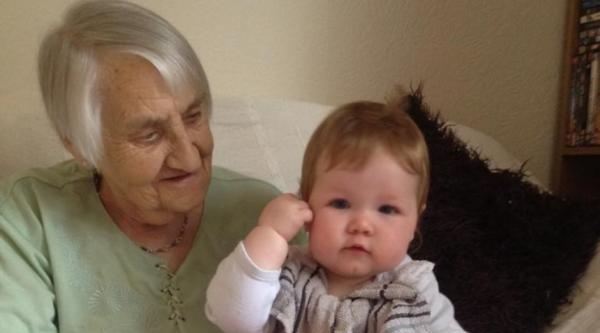 Dorothy with her grandchild