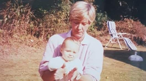 An old photo of Aimee with her late gran, Helen