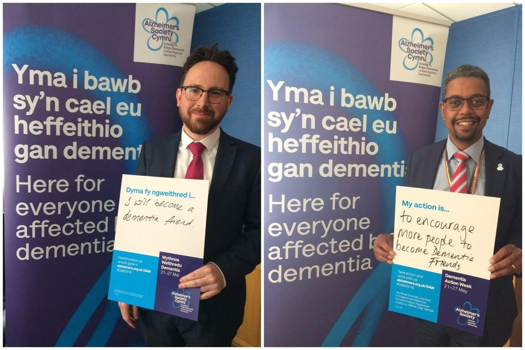 Senedd Dementia Friends - Welsh AMs during Dementia Action Week 2018