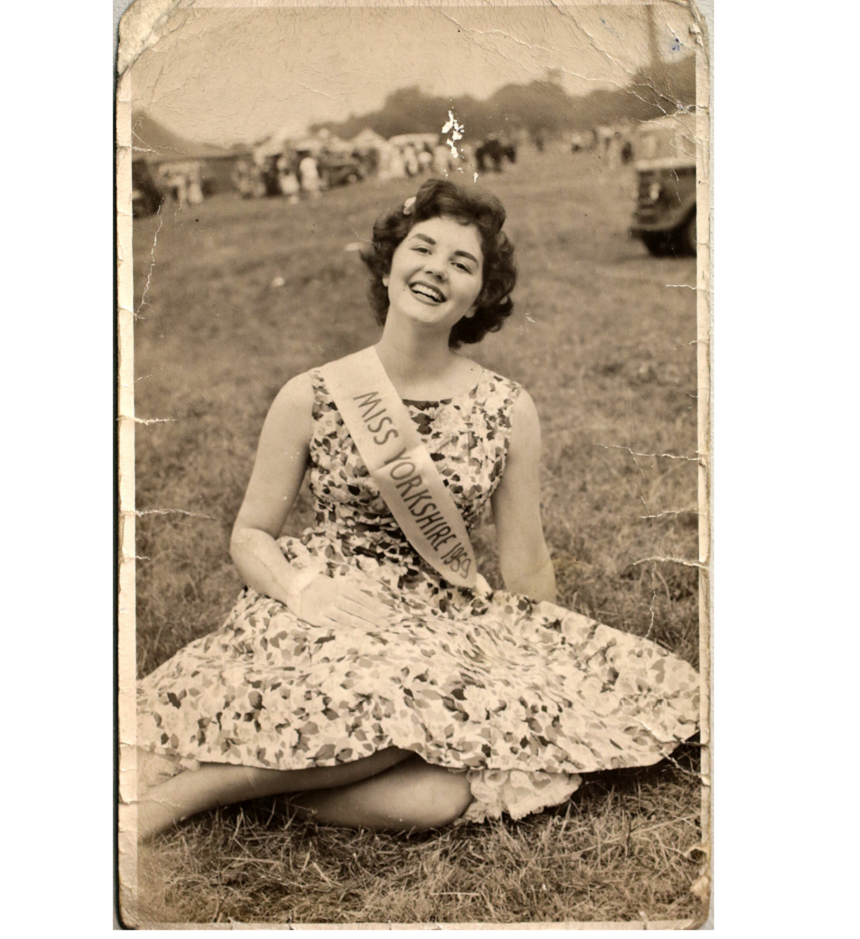 Beryl when she was Miss Yorkshire in her modelling days