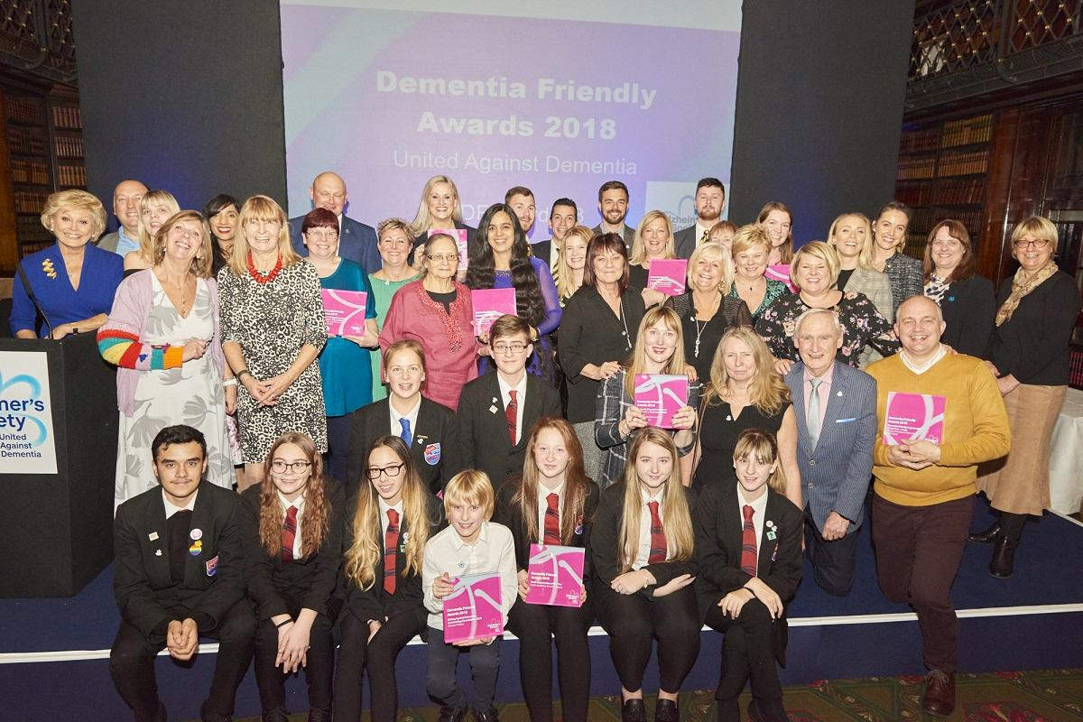 Group photo of Dementia Friendly Awards winners